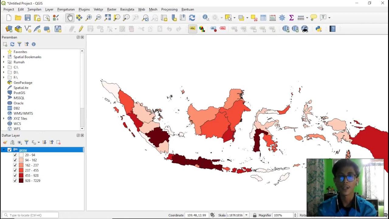 Membuat Peta Sebaran COVID-19 di QGIS (Part 1) - Gradasi ...