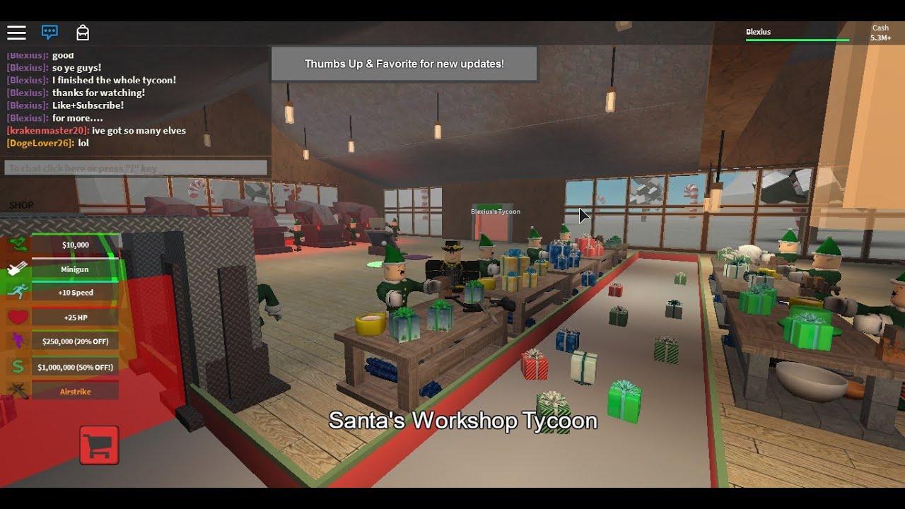 Roblox Santa's Workshop Tycoon [GamePlay] - YouTube