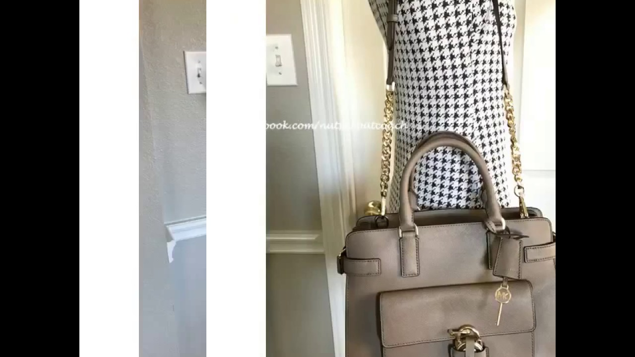 0a908b7b371436 MICHAEL MICHAEL KORS Emma Saffiano Leather Satchel-DARK DUNE - YouTube