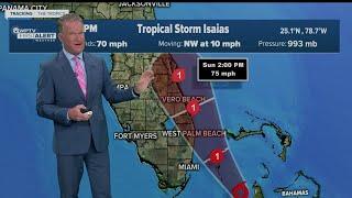 5 P.m. Advisory On Tropical Storm Isaias