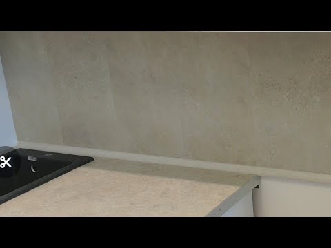 Кухонный фартук из ПВХ просто 👍 практично 👍без пыли и грязи👍 своими руками