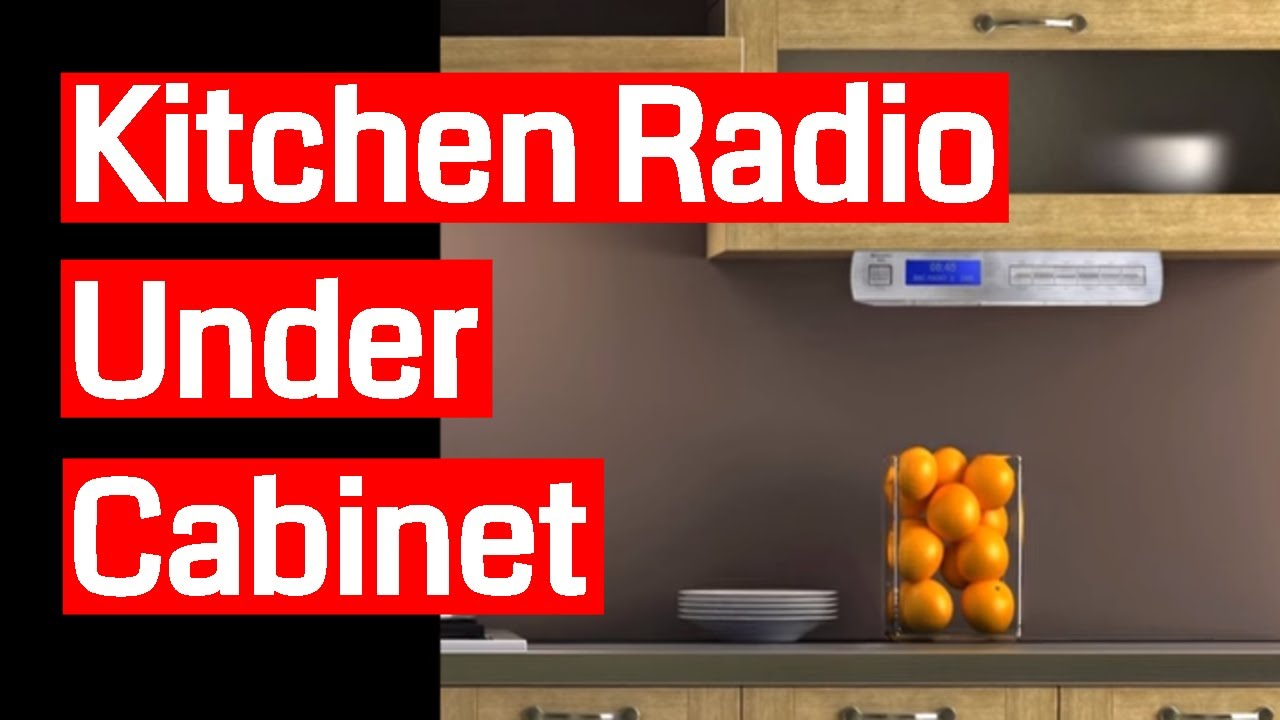 Under the kitchen cabinet radio