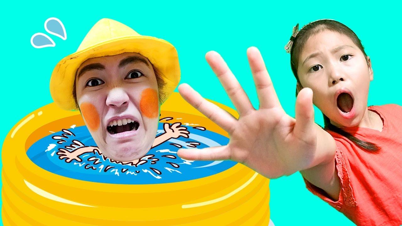 【寸劇】みこちゃん助けて!きらこがプールでおぼれた! ビニールプールに穴が開いた?