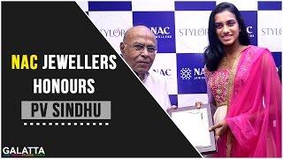 NAC Jewellers honours PV Sindhu