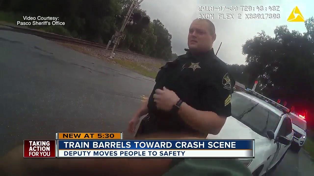 Caught on video: Train crashes into Pasco accident scene