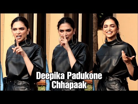 Deepika Padukone Cute and Funny Moment with Photographer's at Chhapaak Promotion | Vikrant Massey