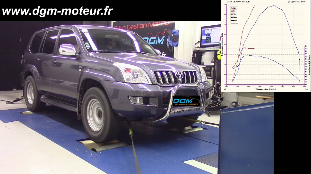 reprogrammation dgm toyota land cruiser 3 0l d4d 166ch 2007 evo1 youtube. Black Bedroom Furniture Sets. Home Design Ideas