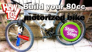 How to install 80cc 2 stroke bicycle engine kit &25 hf4hs