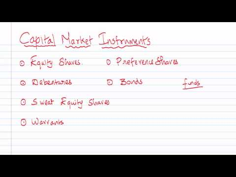 Introdution to Capital Market Instrument (Preamble)