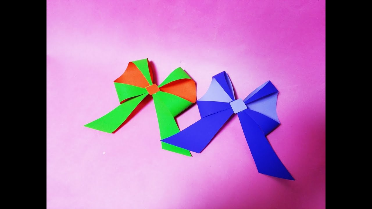 How To Make An Origami Ribbon