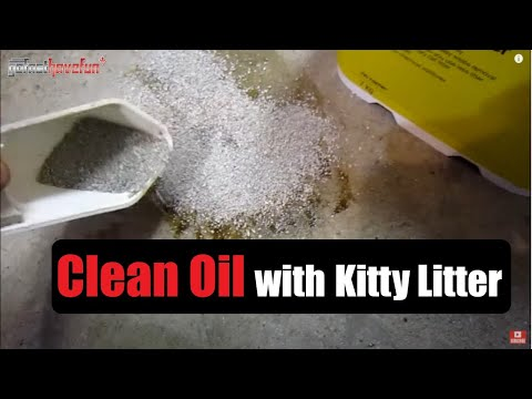 how to clean up motor oil