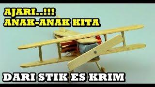 Cara Membuat Pesawat dari Stick Es Krim (Wajib Dicoba)