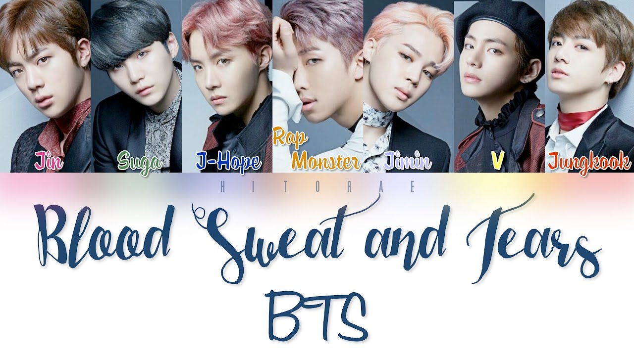 Bts Blood Sweat And Tears Color Coded Lyrics Kan Rom Eng Youtube