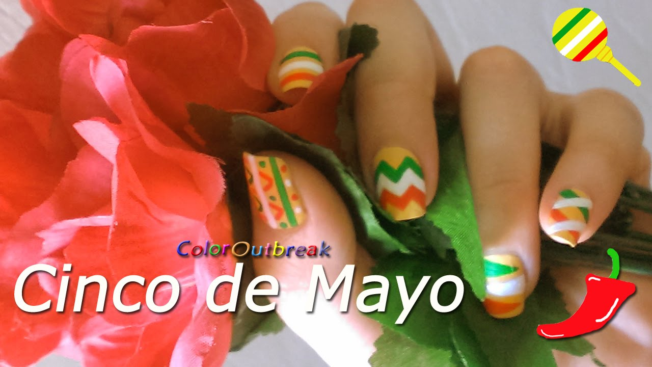 cinco de mayo nail art designs patriotic mexican colors bps