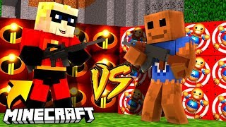 INIEMAMOCNI 2 VS KICK THE BUDDY - MINECRAFT CHALLENGE | BAZA BLOCK vs BAZA MATRUNER KOSHI
