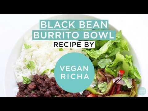 Easy Black Bean Burrito Bowl Chipotle Style VeganRicha.com