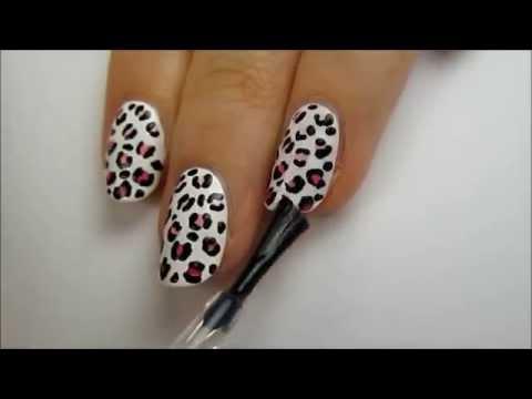рисунок на ногтях видео