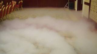 Low fog dry ice machine.MP4