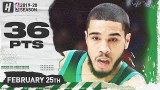 Jayson Tatum 36 Pts 5 Reb Full Highlights   Celtics vs Blazers   February 25, 2020