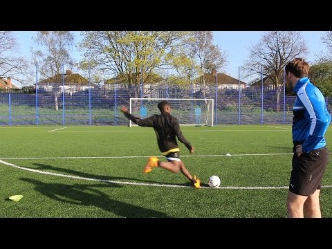 FOOTBALL CHALLENGES WITH CHRISTIAN FUCHS AND MARK UPSON!!!