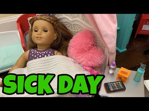 American Girl Doll Sick Day