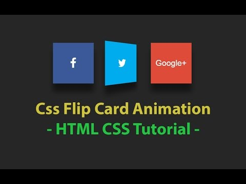 3d card flip animation - css tutorial - Pure Css Social Media Buttons - Plz  SUBSCRIBE Us For More