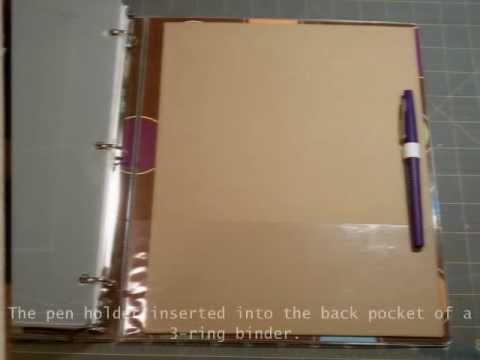 pen holder insert for 3 ring binder youtube