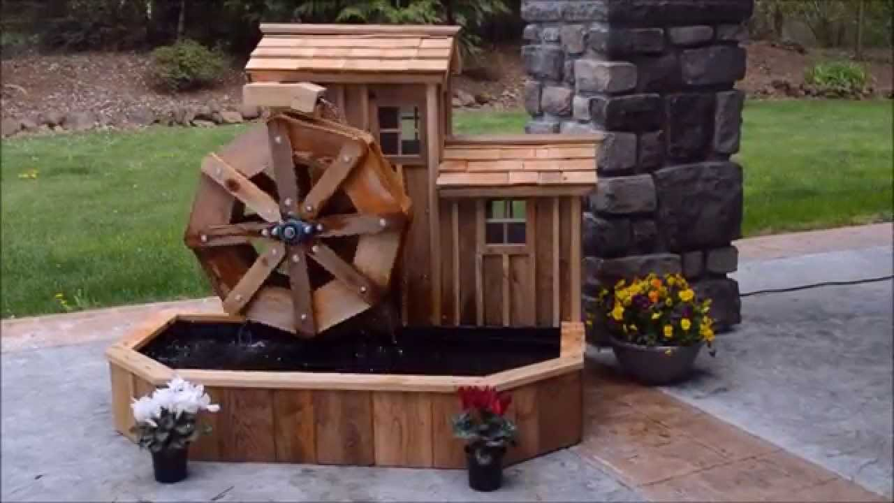 how to build a water wheel youtube