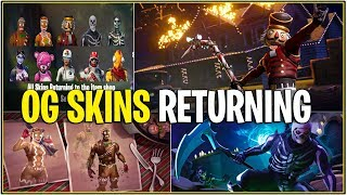 *NEW* OG SKINS RETURNING WITH VARIANTS! *Merry Marauder, Crackshot, & More!* (Fortnite)