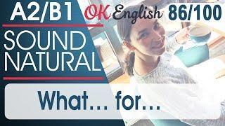86/100 What ... for? - Для чего? 🇺🇸 Sound Natural