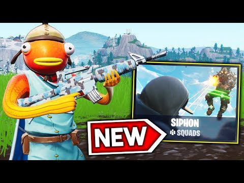 CARRYING a Squad to a WIN in the NEW 'Siphon' Game Mode on Fortnite!!