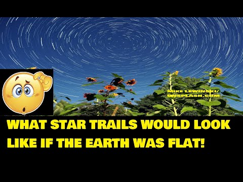 Flat Earth Star Trails-What Would They Look Like When Viewed From A Flat Earth thumbnail