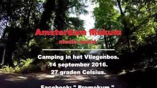 Amsterdam noord.  Camping in het Vliegenbos.  27.C.     14 September  2016.