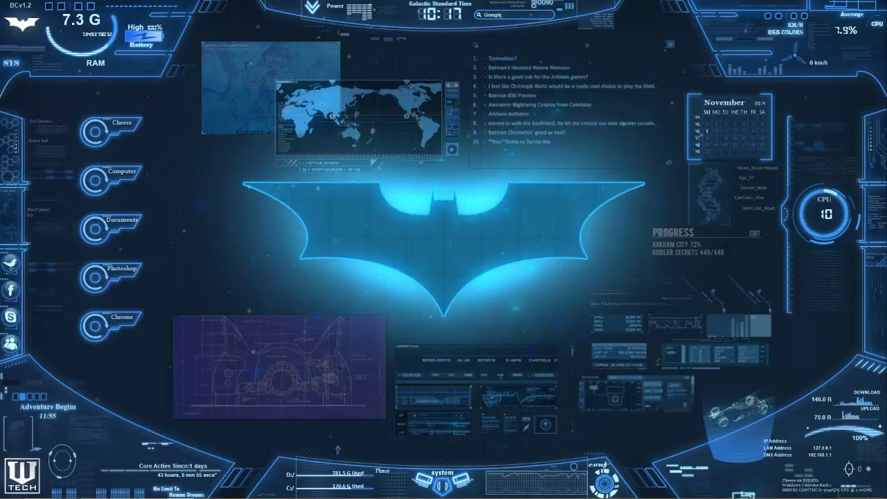 Bat Computer Wallpaper Engine Live Wallpaper Youtube