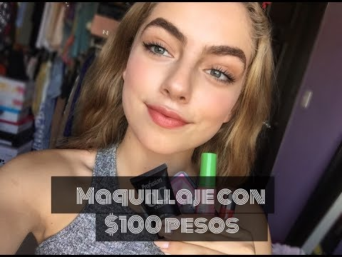 RETO: Me maquillo con $100 pesos!   Daniela Alfaro