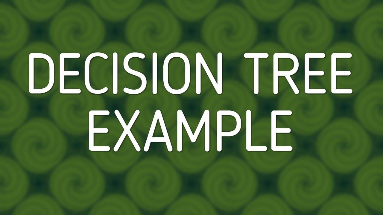 decision tree example(ID3)