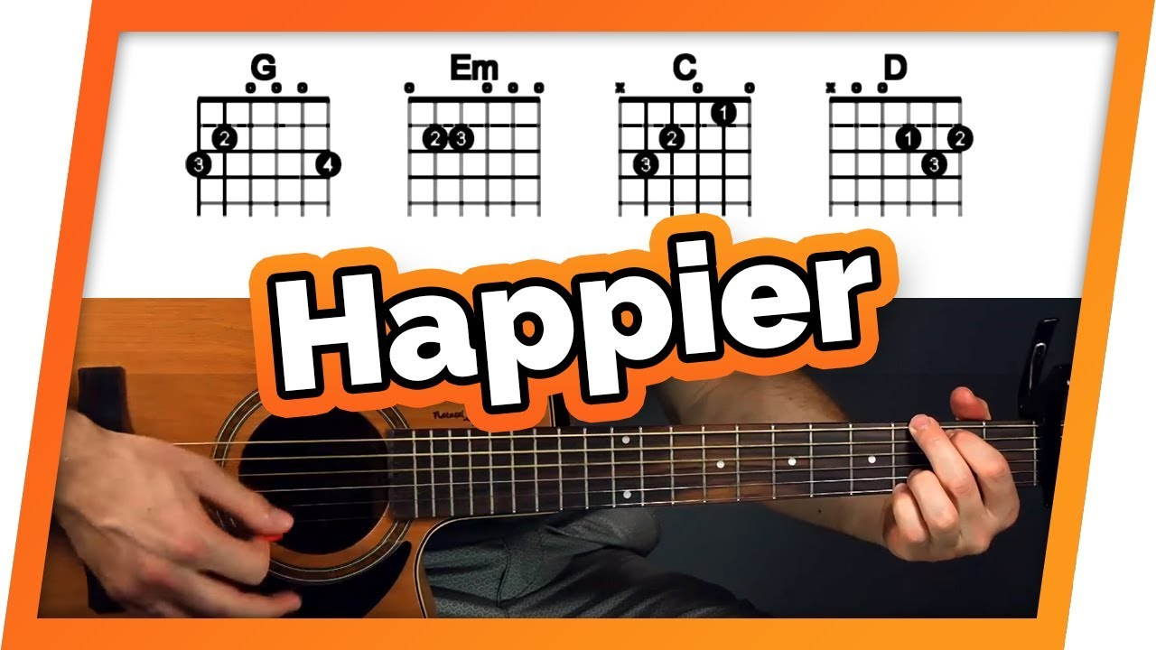 how to play happier on guitar