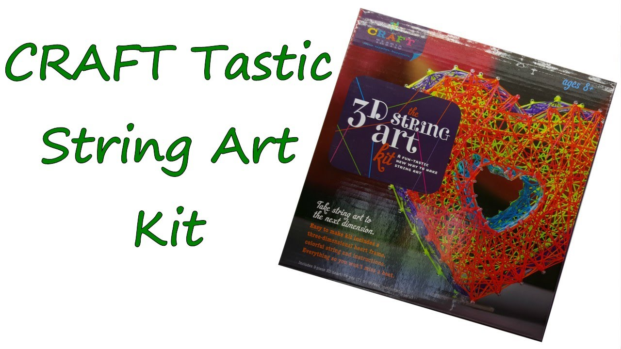 String art craft kit - Craft Tastic 3 D Heart String Art Kit Overview And Tutorial By Feelinspiffy