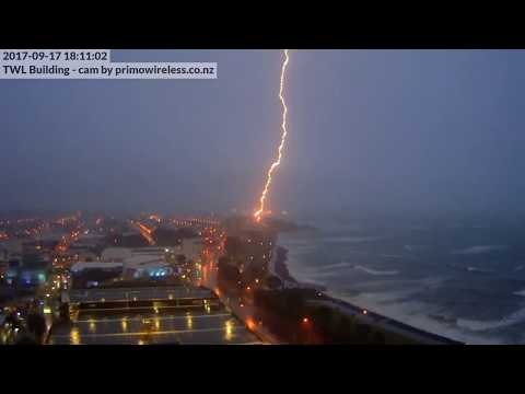 Lightning Hits New Plymouth Wind Wand