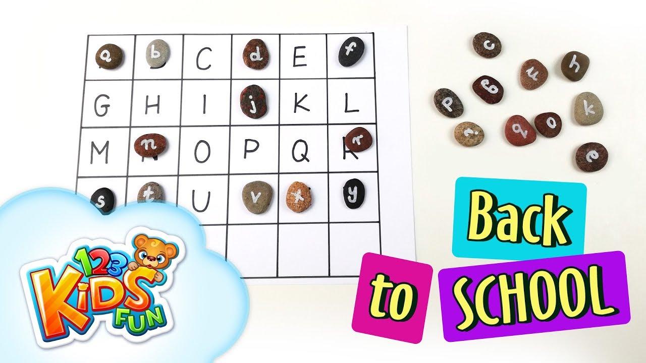 Diy By Creative Mom 7 Back To School Learn Alphabet Abc