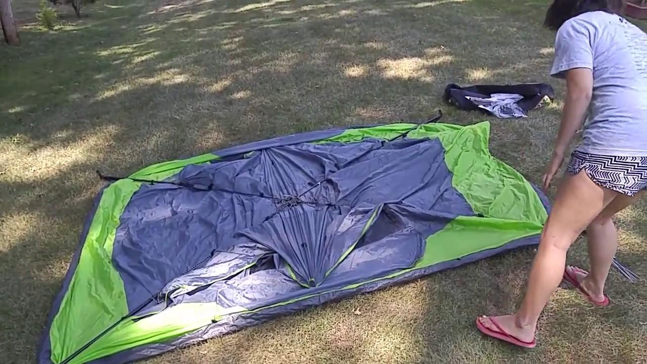 Setup Ozark Trail 4 person instant dome tent & Setup Ozark Trail 4 person instant dome tent - YouTube