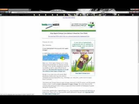 Agent Orange GMO Corn
