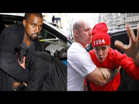 Top 5 Celebrities ABUSING Paparazzi's- Justin Bieber, Kanye West, Miley Cyrus & more