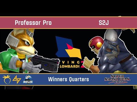 Saving Mr. Lombardi 2 - Professor Pro (Fox) VS S2J (Captain Falcon) - SSBM - Winners Quarters