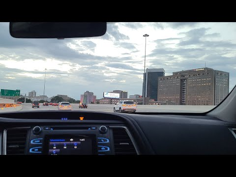 Driving Thru Downtown Birmingham, Alabama On The Way To Airport @ 5am Early In The Morning.Valentus