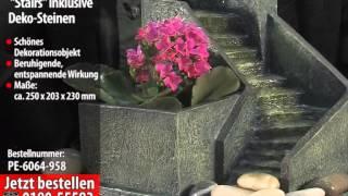 """infactory Zimmerbrunnen """"Stairs"""" inklusive Deko-Steinen"""