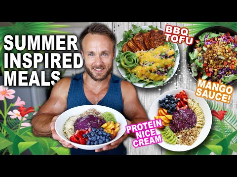 FULL DAY OF EATING | SUMMER VEGAN RECIPES ��