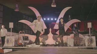 Annalisa & Sam - tap duo dancing at french gala evening