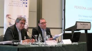 IFE Conferencias - Eloy Velasco Núñez - Audiencia Nacional - Responsabilidad penal