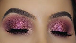 Sparkly Pink Mauve Eye Makeup Tutorial!
